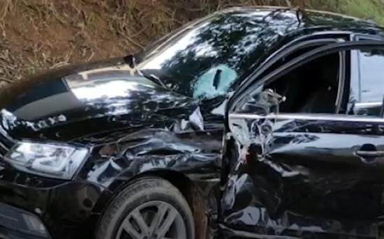 Muriaé: motociclista fica ferido em acidente na BR-356