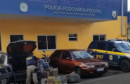 Leopoldina: saqueadores de carga de carreta tombada são detidos