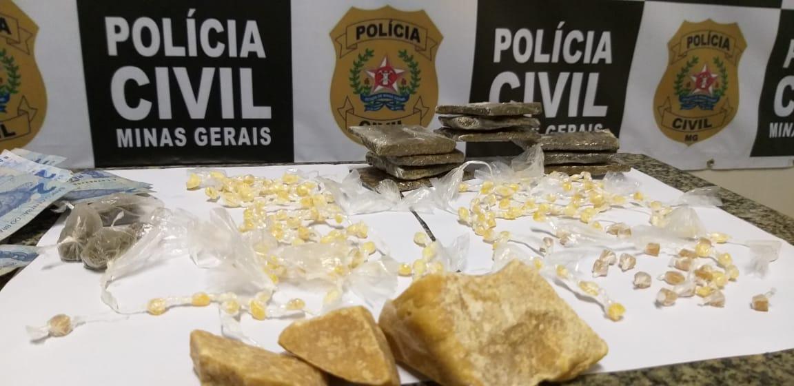 Juiz de Fora: polícia apreende drogas, dinheiro e carro em operação