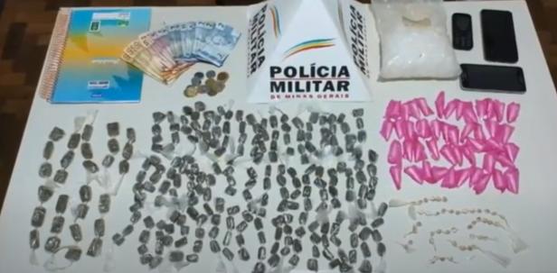 Elói Mendes: drogas apreendidas no bairro Nossa Senhora Aparecida