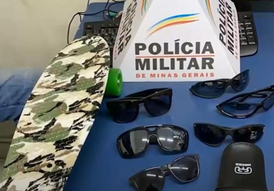 Poços de Caldas: PM recupera objetos furtados de loja