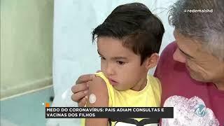 R+: Pais adiam vacinação e consultas de filhos
