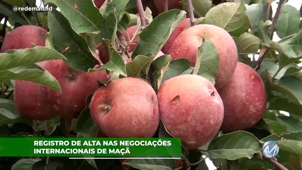 Registro de alta nas negociações internacionais de maçã
