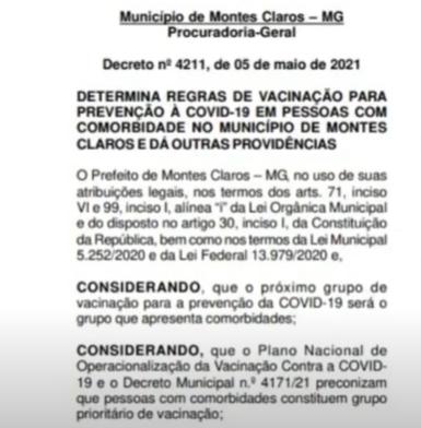 Pessoas com comorbidades: decreto estabelece critérios para vacinação da Covid-19