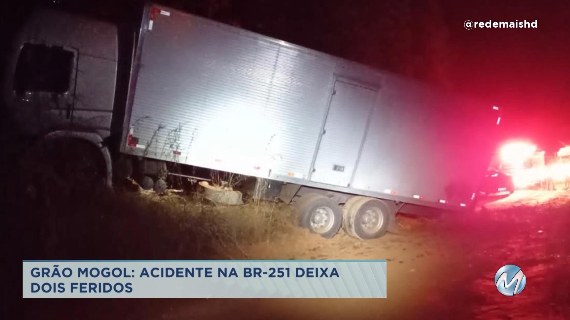 Grão Mogol: acidente deixa dois feridos