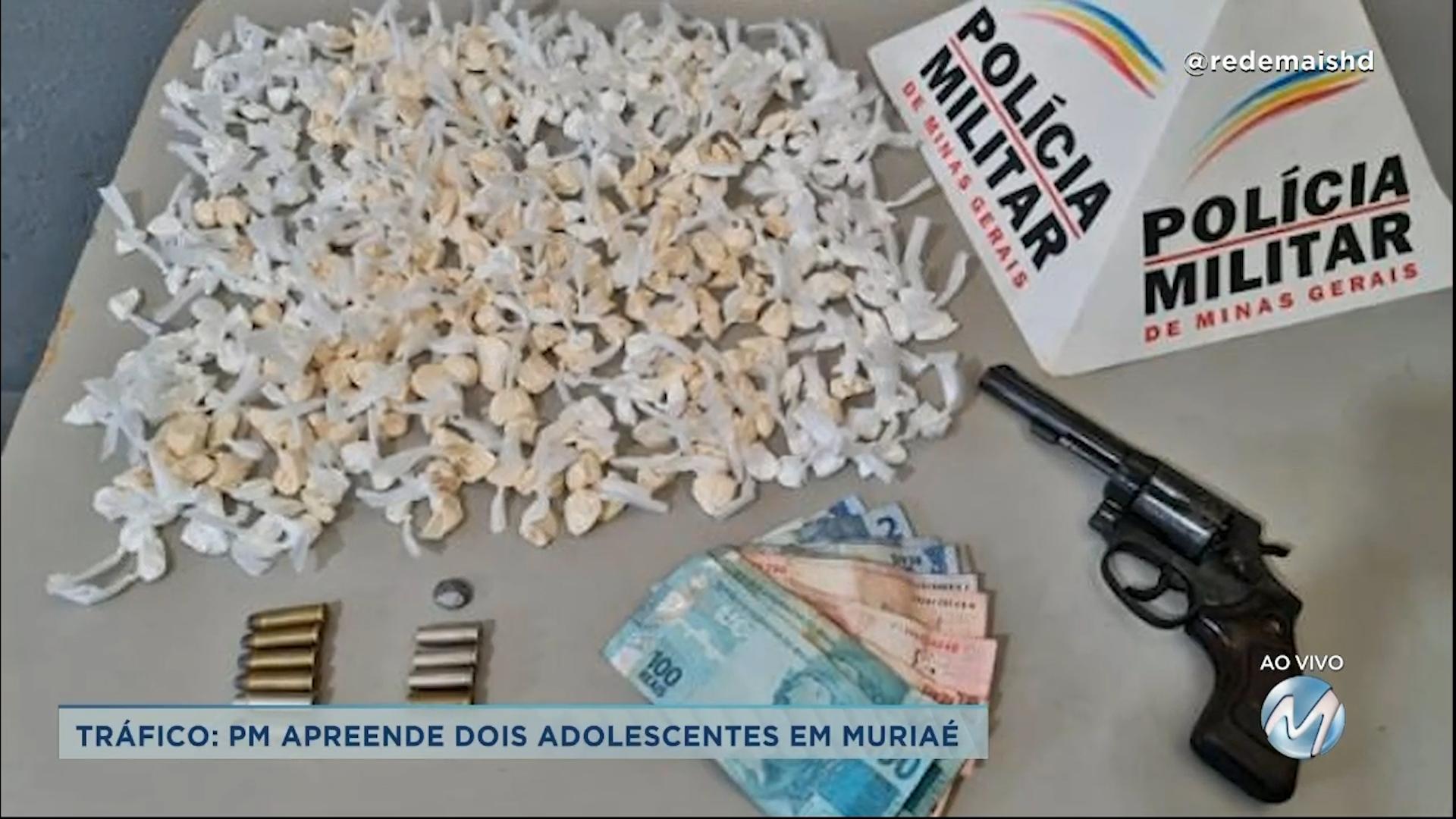 Tráfico: PM apreende dois adolescentes em Muriaé