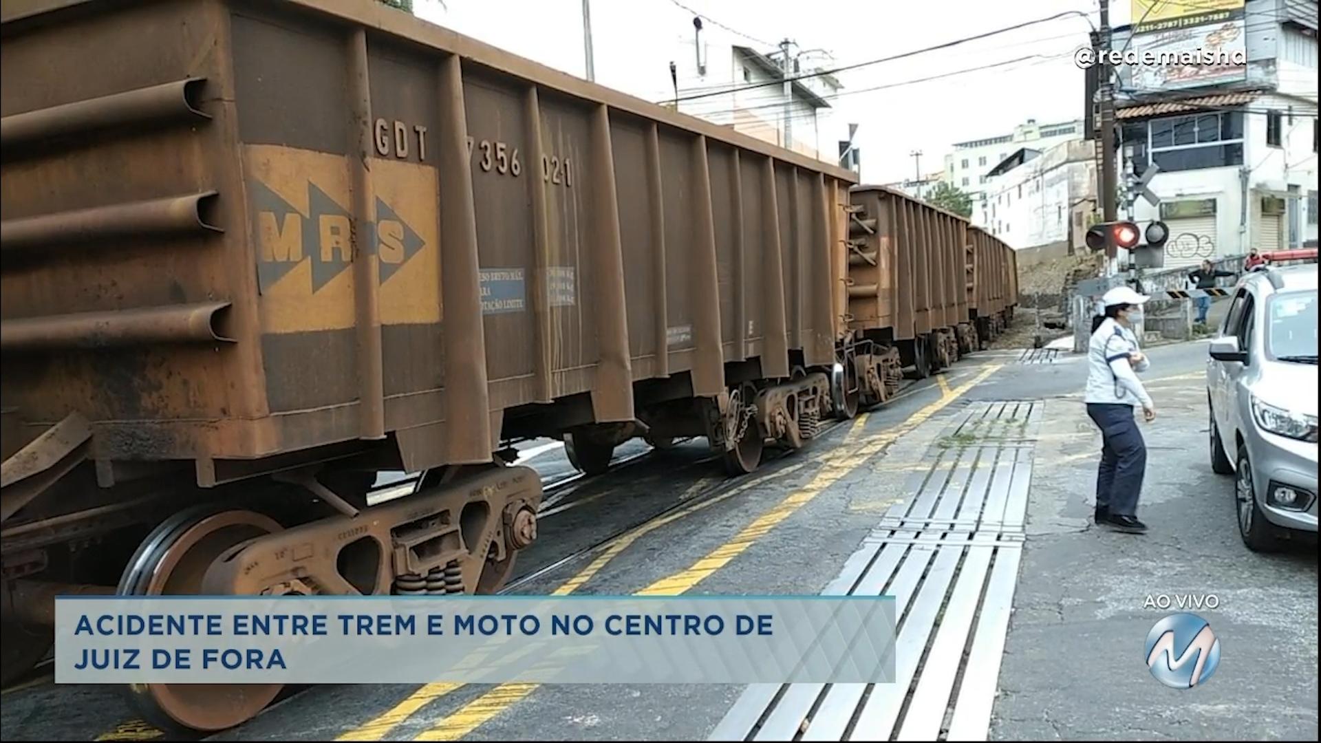 Acidente entre trem e moto é registrado em Juiz de Fora