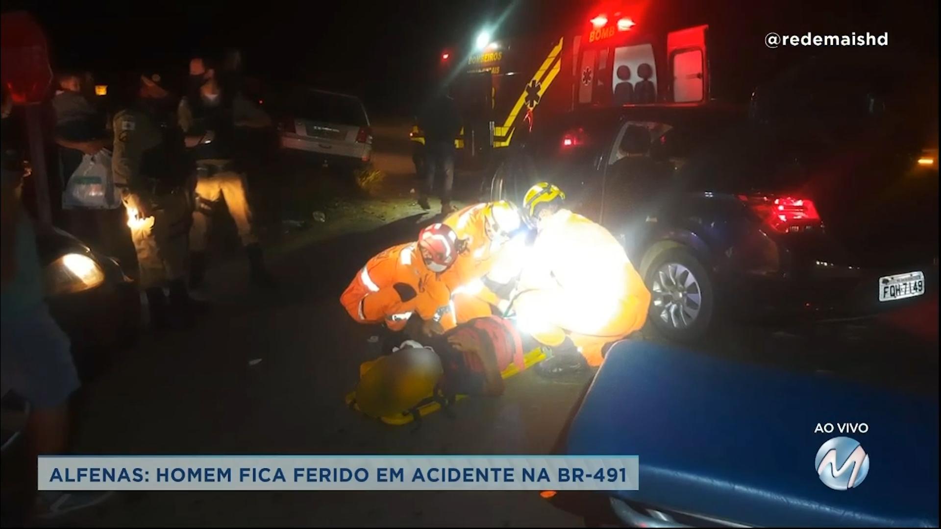 Alfenas: homem fica ferido em acidente