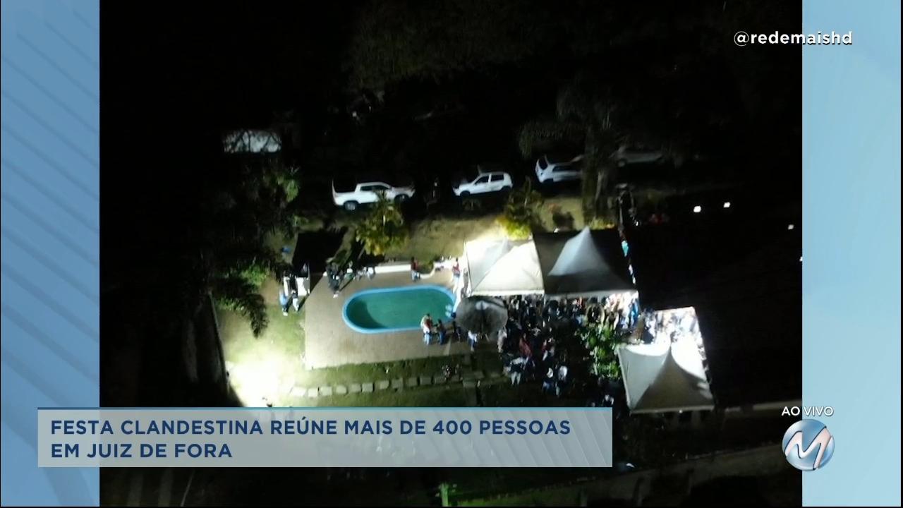 Festa clandestina reúne mais de 400 pessoas em Juiz de Fora