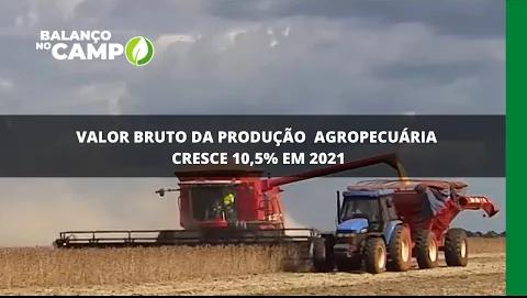 Valor da bruto da produção agropecuária cresce 10,5% em 2021