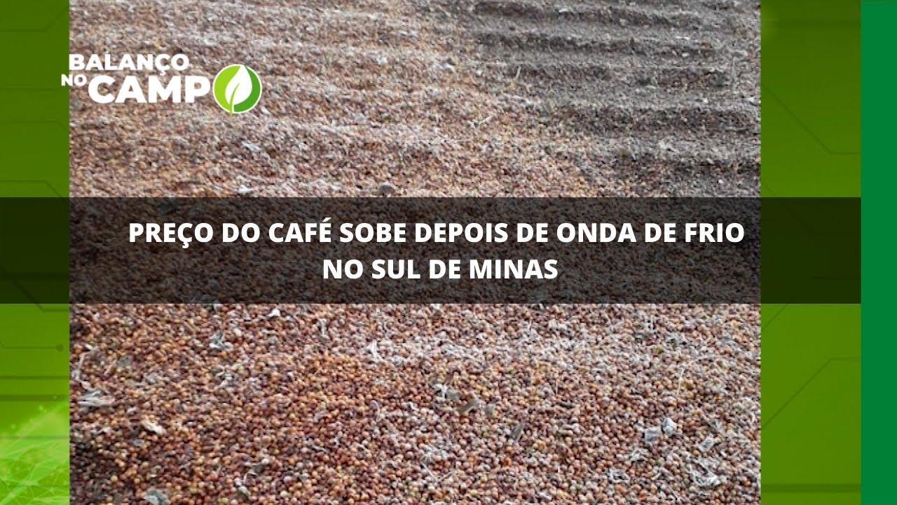 Preço do café sobe depois de onda de frio