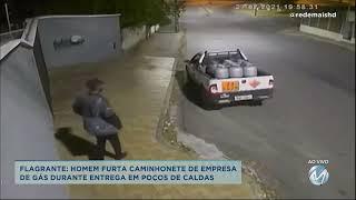 Flagrante: Homem furta caminhonete de gás