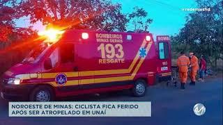 Ciclista fica ferido em acidente