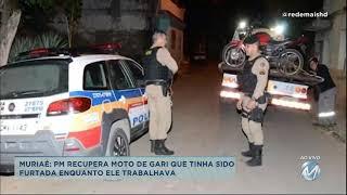 Polícia recupera moto de gari que tinha sido furtada