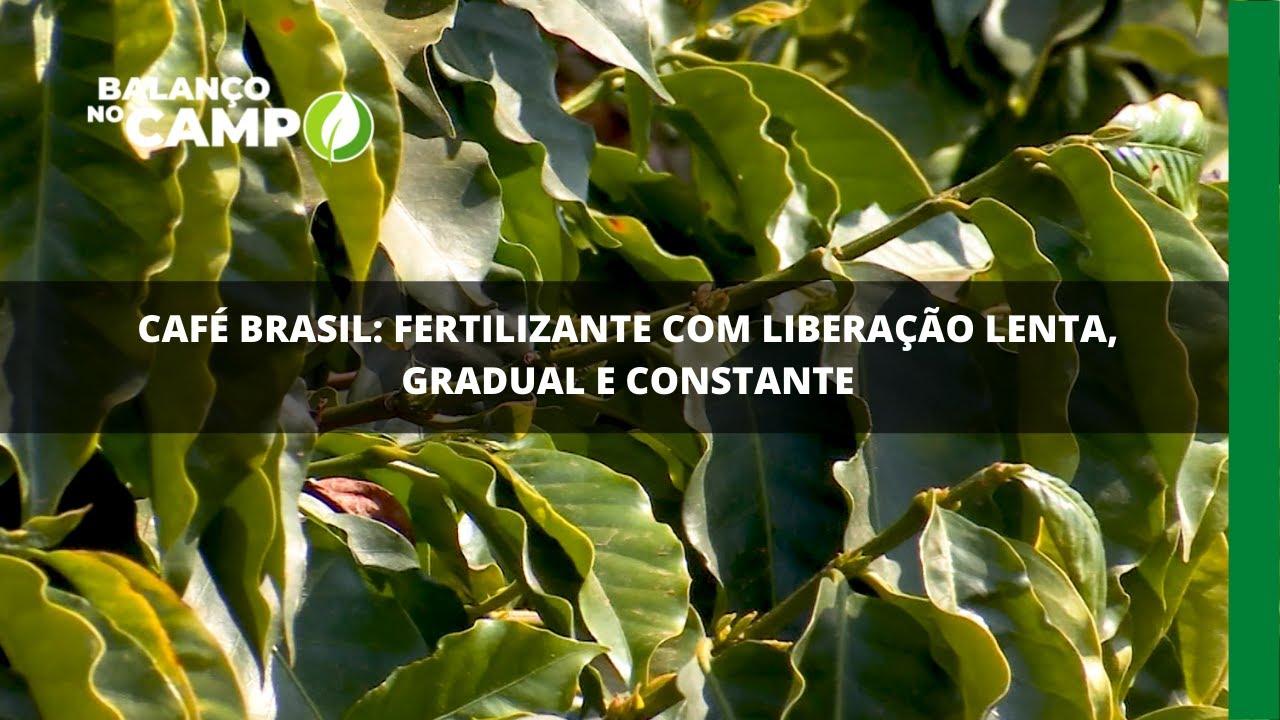 Café Brasil: fertilizante com liberação lenta, gradual e constante