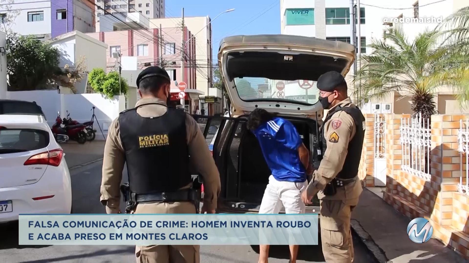 Falsa comunicação de crime: homem inventa roubo e acaba preso em Montes Claros