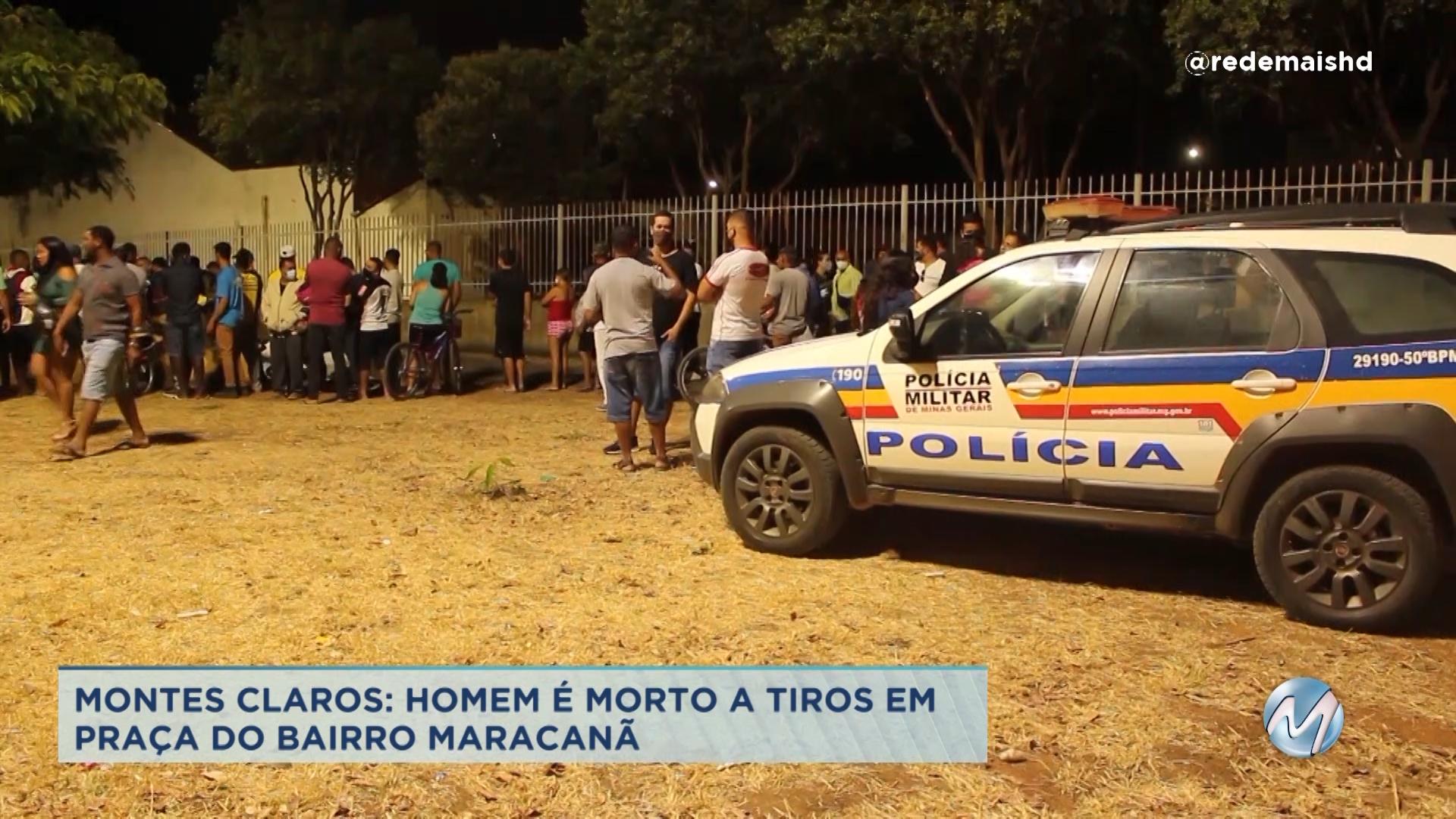 Montes Claros: homem é morto a tiros em praça do bairro Maracanã