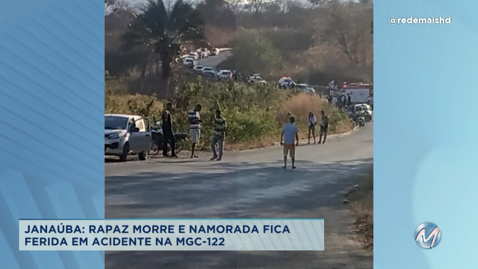 Janaúba: rapaz morre e namorada fica ferida em acidente