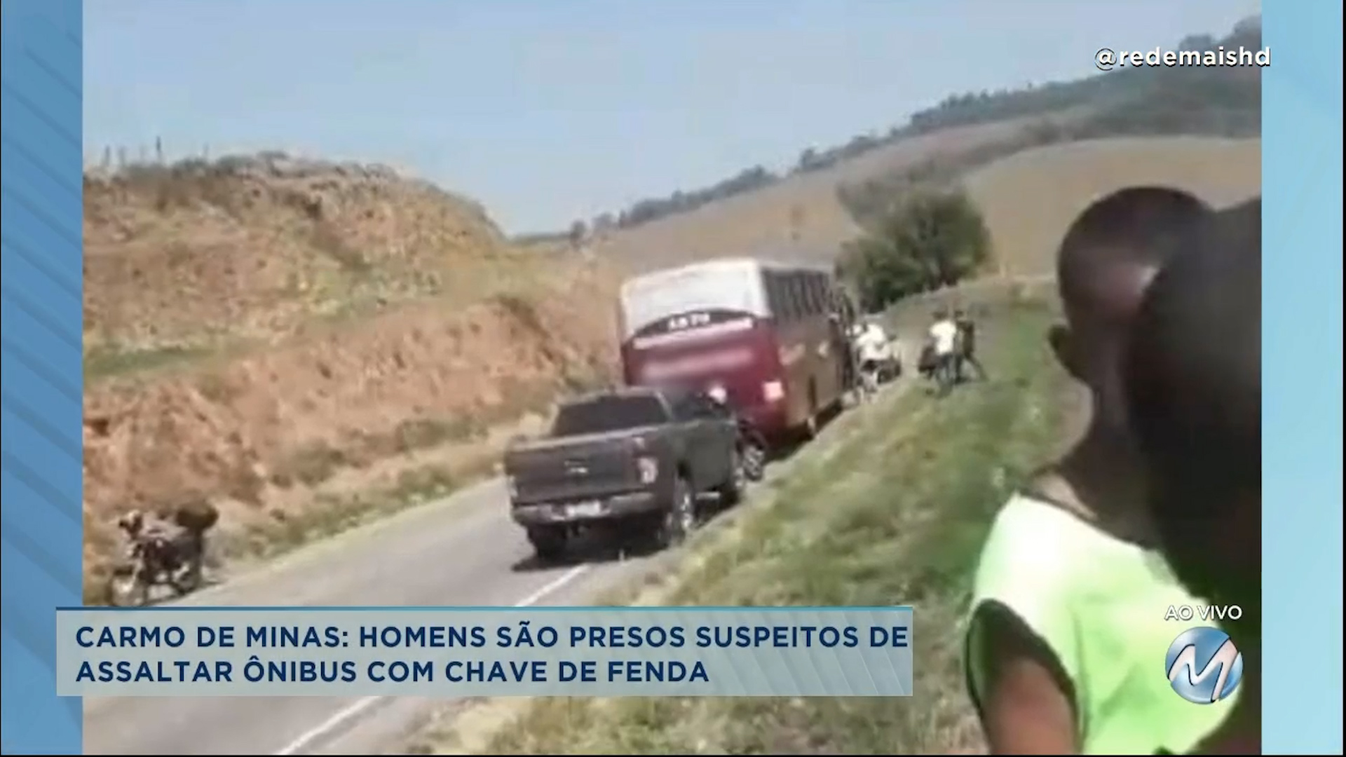 Carmo de Minas: homens são presos suspeitos de assaltar ônibus