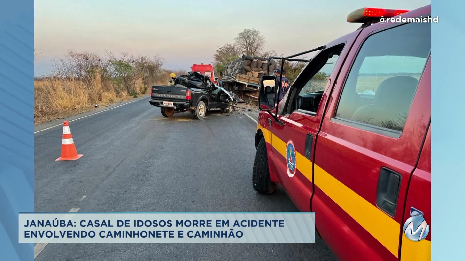 Casal de idosos morre em acidente em Janaúba