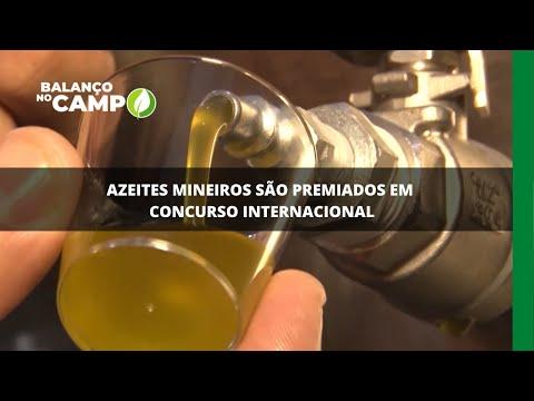 Azeites mineiros são premiados em concurso internacional