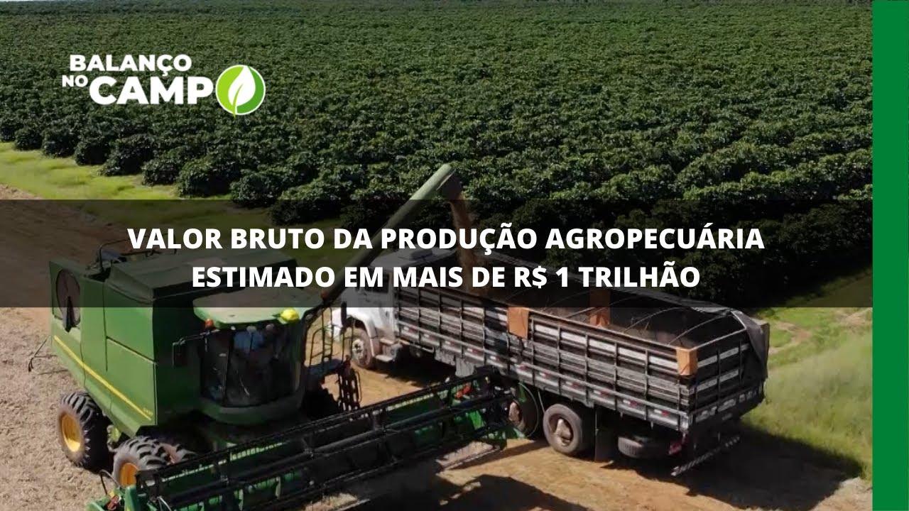 Valor bruto da produção agropecuária estimado em mais de R$ 1 trilhão