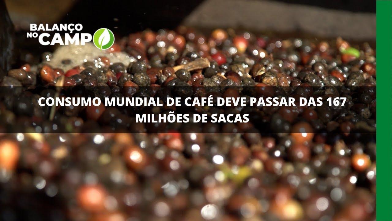 Consumo mundial de café deve passar das 167 milhões de sacas