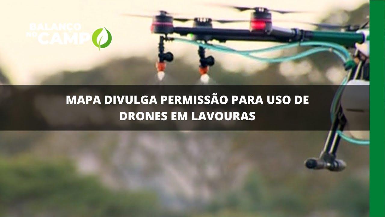 Mapa divulga permissão para uso de drones em lavouras