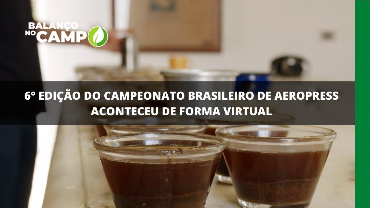 6° edição do Campeonato Brasileiro de Aeropress aconteceu de forma virtual