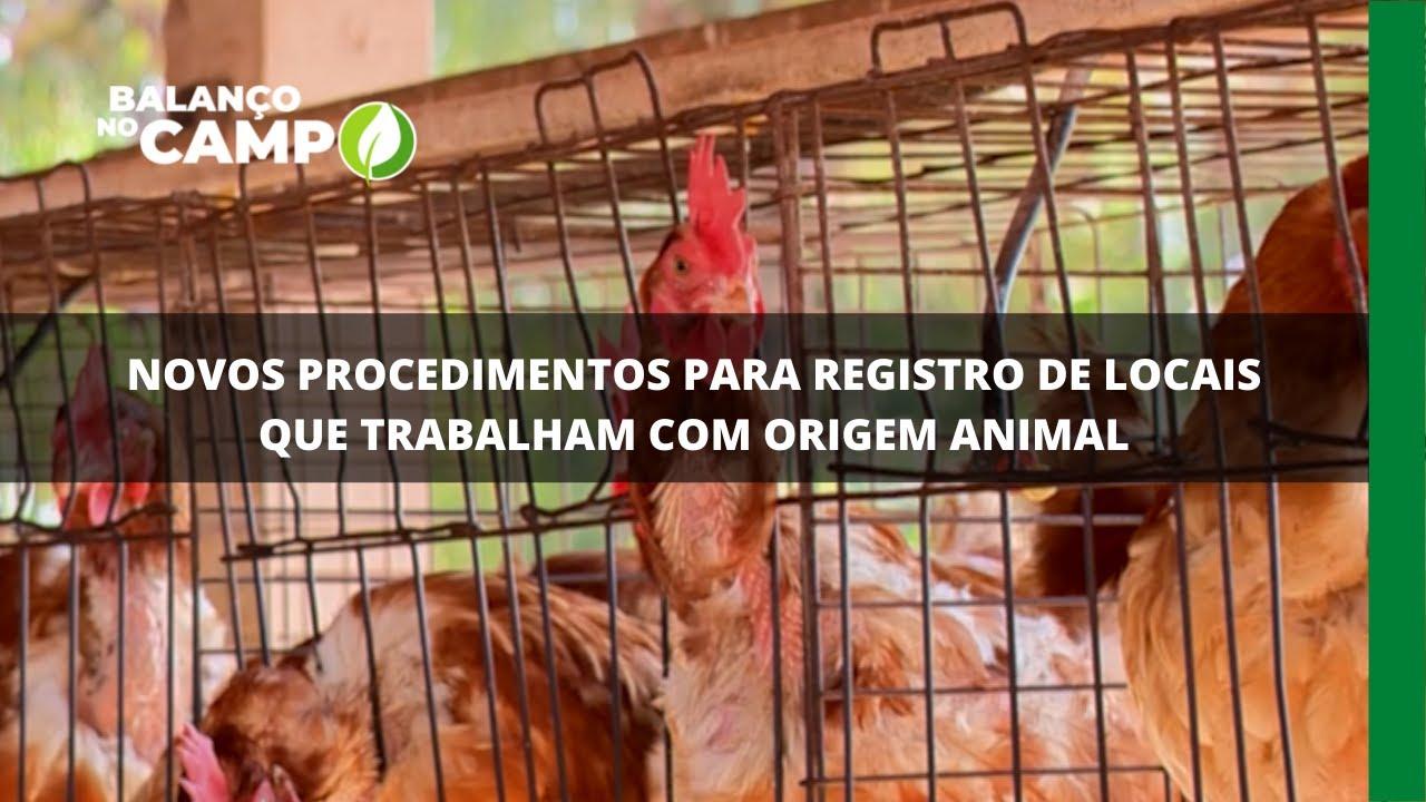 Novos procedimentos para registro de locais que trabalham com origem animal