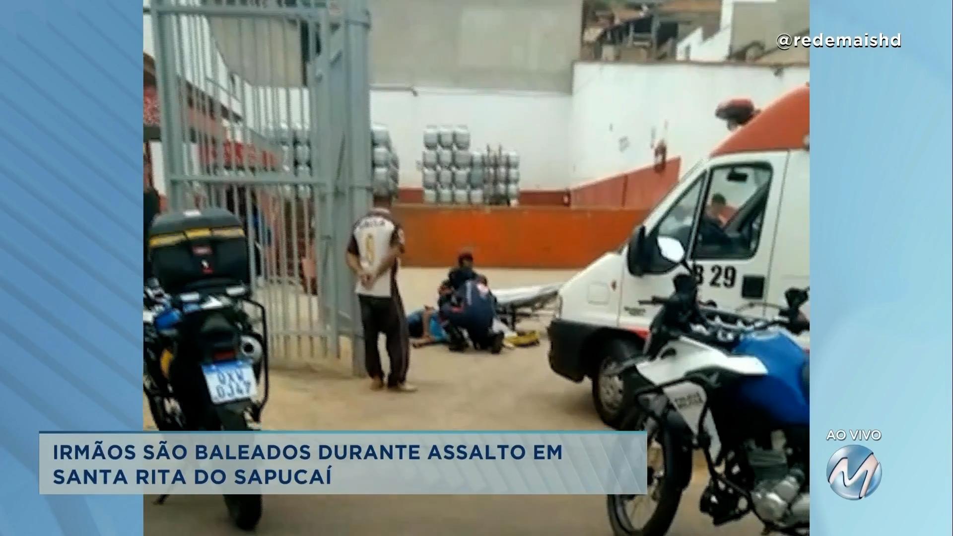 Dois irmãos foram baleados durante assalto em Santa Rita do Sapucaí