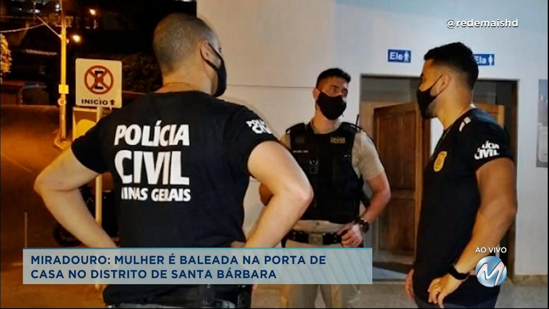Miradouro: mulher é atingida com 5 tiros na porta de casa